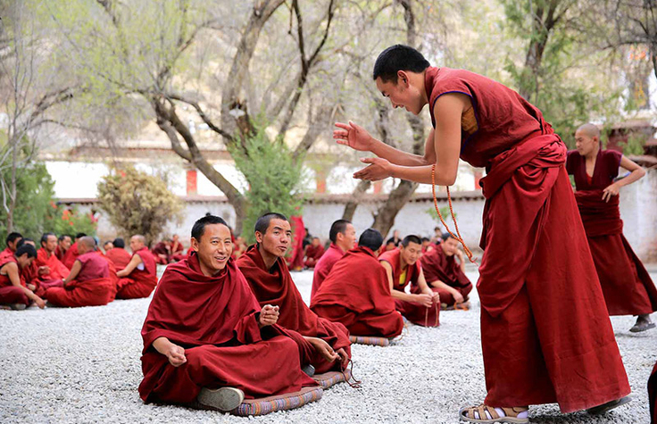 Lamas' Debating at Sera Monastery