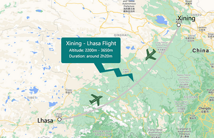 Xining to Lhasa Flight