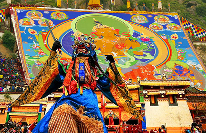 Thangka Show on Shoton Festival
